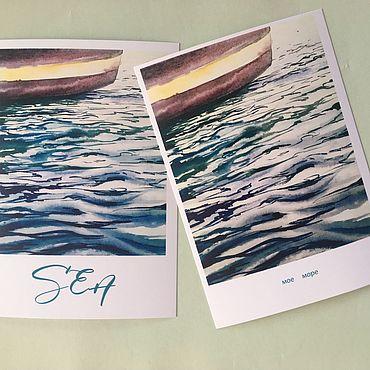Дизайн и реклама ручной работы. Ярмарка Мастеров - ручная работа Открытки «Море». Handmade.