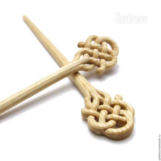 Заколки ручной работы. Ярмарка Мастеров - ручная работа. Купить Шпильки из дерева резные светлые (Ясень). Handmade. Бежевый, палочка
