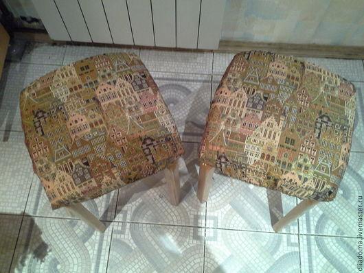 Мебель ручной работы. Ярмарка Мастеров - ручная работа. Купить Сидушки на табурет на резинке. Handmade. Табуретка, сидушка на стул, в подарок