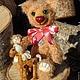 Мишки Тедди ручной работы. Мишка Анюта (мишка Тедди). Марина Рыбчинская (куклы и мишки). Интернет-магазин Ярмарка Мастеров.