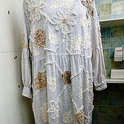 """Одежда ручной работы. Ярмарка Мастеров - ручная работа Платье изо льна """"Меланж"""". Handmade."""