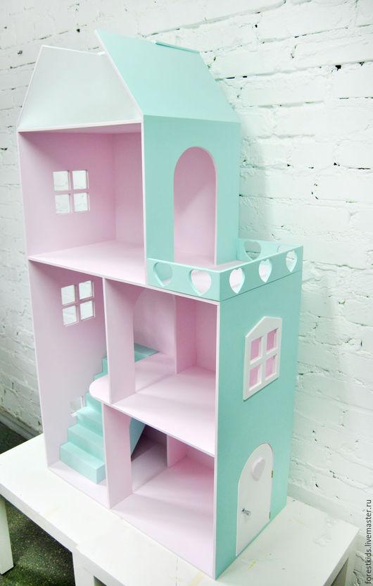 Кукольный дом ручной работы. Ярмарка Мастеров - ручная работа. Купить Кукольный дом. Handmade. Бледно-розовый