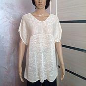 Одежда handmade. Livemaster - original item Summer silk tunic Cloud. Handmade.