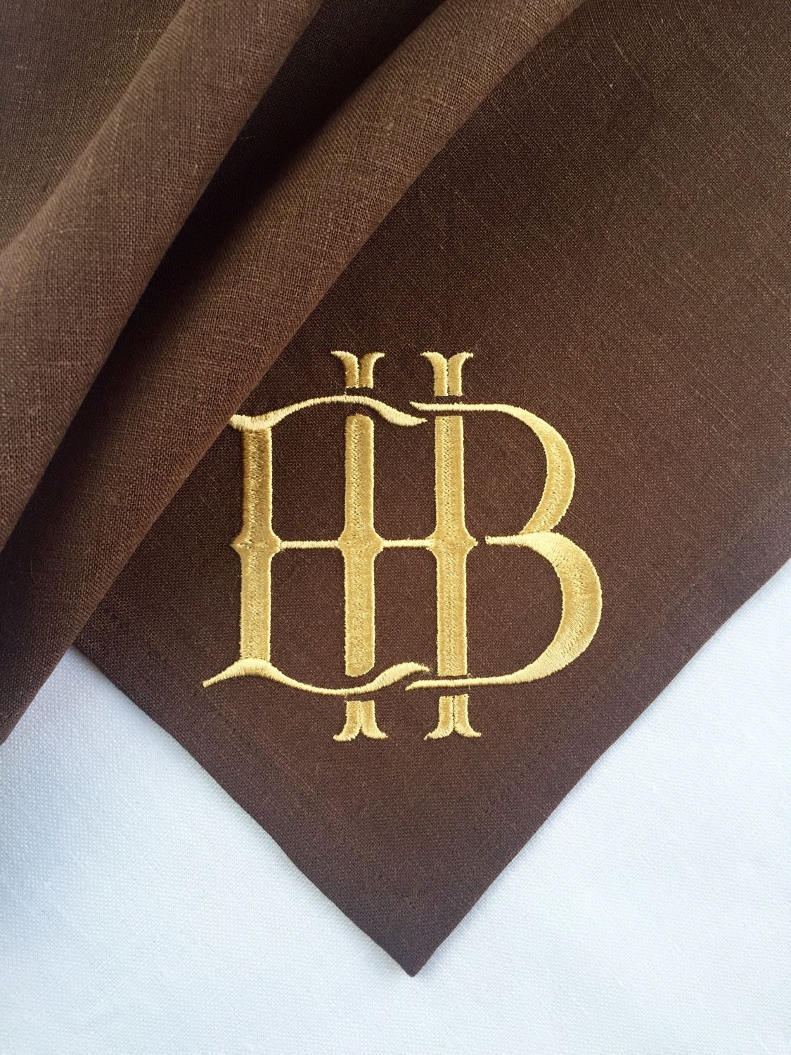 Napkin with embroidery of Your monogram  `Sulkin house` embroidery workshop
