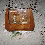 Винтаж ручной работы. Ярмарка Мастеров - ручная работа Антикварный настольный календарь наборный дерево Германия. Handmade.