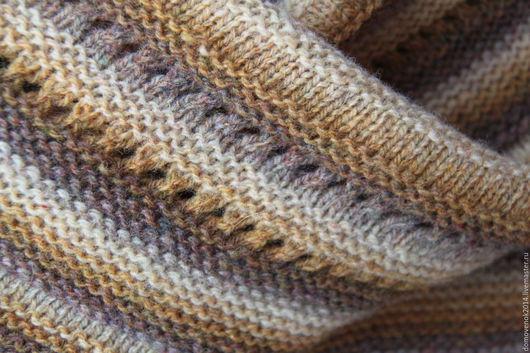 Шали, палантины ручной работы. Ярмарка Мастеров - ручная работа. Купить Шаль Пески пустыни (датская шаль традиционная). Handmade.