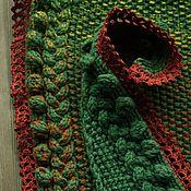 """Аксессуары ручной работы. Ярмарка Мастеров - ручная работа Вязаный шарф """"Зеленая радуга"""". Handmade."""