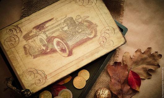 Шкатулки ручной работы. Ярмарка Мастеров - ручная работа. Купить Шкатулка-Купюрница Ретро Авто (подарок для мужчины). Handmade.