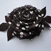 Украшения ручной работы. Ярмарка Мастеров - ручная работа Роза в горошек. Handmade.