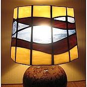 Для дома и интерьера ручной работы. Ярмарка Мастеров - ручная работа Витражная лампа G&F. Handmade.