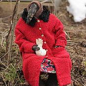Куклы и игрушки handmade. Livemaster - original item Garret doll: Granny in a red coat. Handmade.