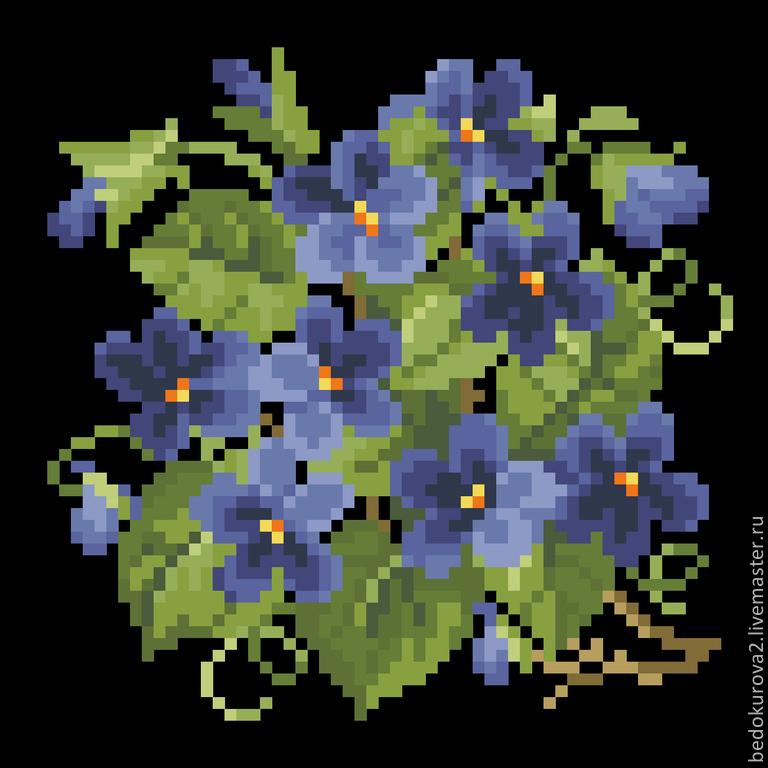 Купить 6 мини схем цветов