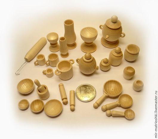 Развивающие игрушки ручной работы. Ярмарка Мастеров - ручная работа. Купить Набор кукольной посуды  (бирюльки) 27 предметов. Handmade.