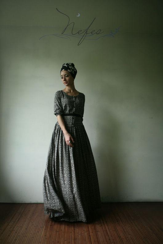 """Платья ручной работы. Ярмарка Мастеров - ручная работа. Купить Платье """"Рухами"""". Handmade. Комбинированный, длинное платье в пол, женственность"""