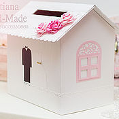 Свадебный салон ручной работы. Ярмарка Мастеров - ручная работа Сундучок-домик свадебный. Handmade.