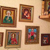 Картины и панно ручной работы. Ярмарка Мастеров - ручная работа Коллекция икон, вышитых бисером(более 30 штук). Handmade.