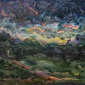 """Картины и панно ручной работы. Ярмарка Мастеров - ручная работа """"После грозы"""" акварельная живопись. Handmade."""