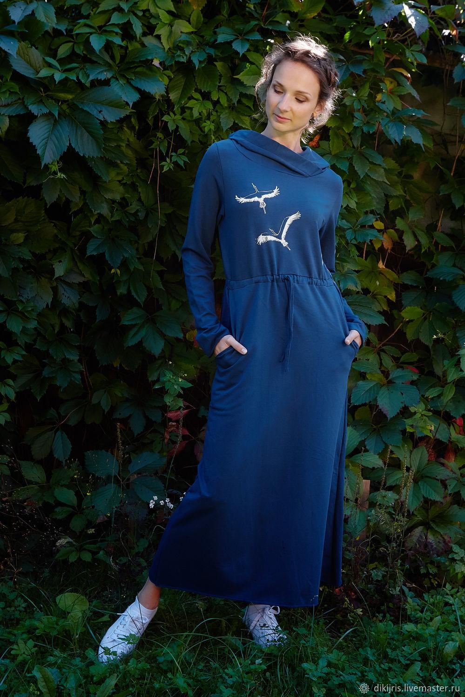 64b4d7d6329 Купить Платье трикотажное с капюшоном