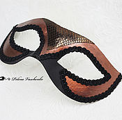 """Одежда ручной работы. Ярмарка Мастеров - ручная работа Карнавальная маска """"Медная"""". Handmade."""