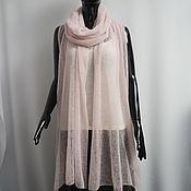 Аксессуары handmade. Livemaster - original item Wraps: Kid Mohair Lightweight Knitted Stole Pink Powder. Handmade.