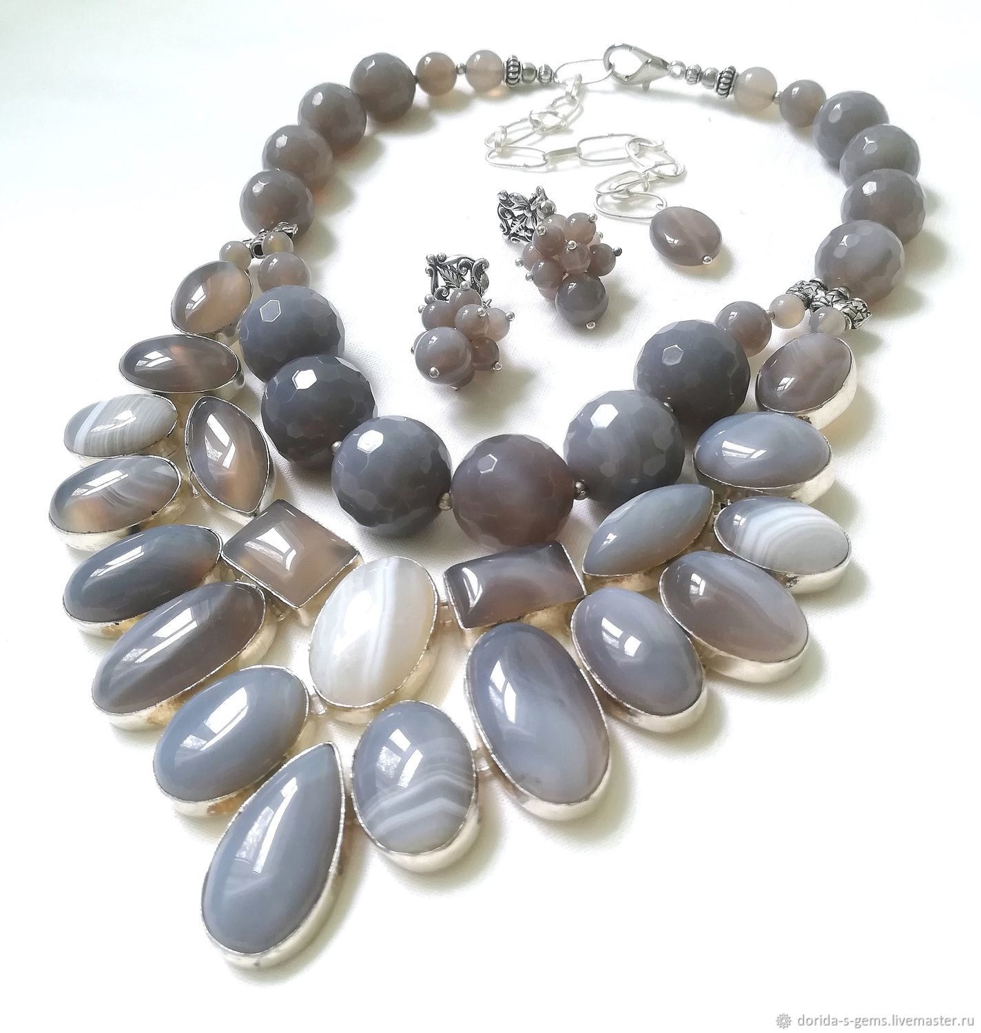 necklace, designer necklace, necklace for every day necklace out, the necklace of agate, agate necklace, necklace for gift, agate beads, grey agate beads, beads stones, grey agate necklace, agate jewe