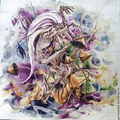 Картины и панно ручной работы. Ярмарка Мастеров - ручная работа Вышитая картина Тролль - шаман. Handmade.
