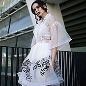 Одежда ручной работы. Ярмарка Мастеров - ручная работа Платье из органзы с вышивкой. Handmade.