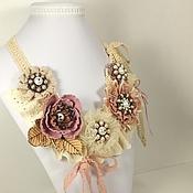 Украшения handmade. Livemaster - original item Pink Lace Sketch. Necklace. Handmade.