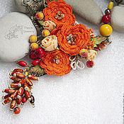 Украшения ручной работы. Ярмарка Мастеров - ручная работа Колье Осенняя мелодия. Handmade.