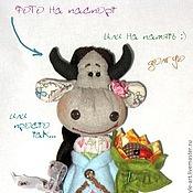 Куклы и игрушки ручной работы. Ярмарка Мастеров - ручная работа Коровушка Голубка моя. Handmade.