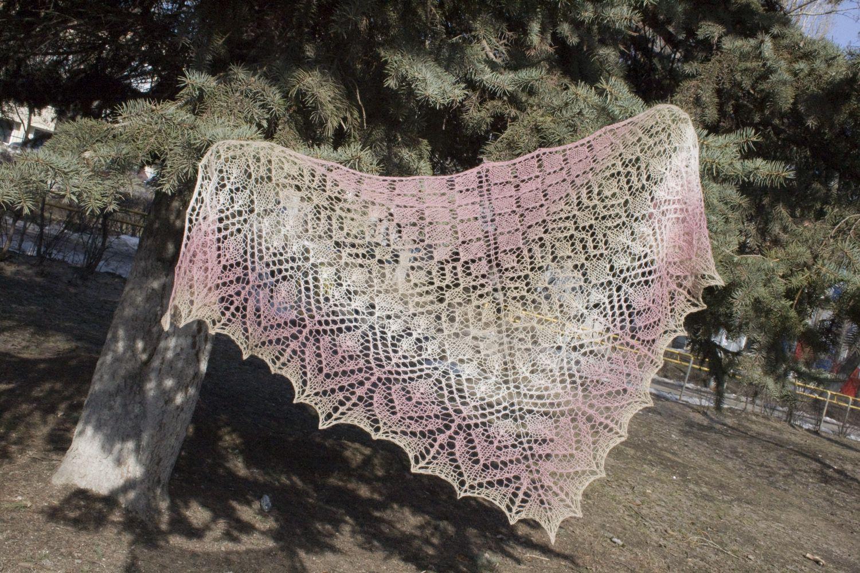 Схема шали из кауни 561
