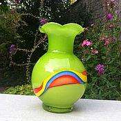Винтаж handmade. Livemaster - original item Vase, art glass, Germany. Handmade.