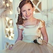 Работы для детей, ручной работы. Ярмарка Мастеров - ручная работа Goldy нарядное платье для девочки. Handmade.