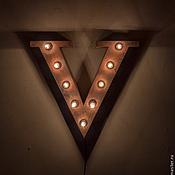 """Для дома и интерьера ручной работы. Ярмарка Мастеров - ручная работа Световые буквы """"VEGAS"""". Handmade."""