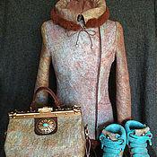 """Одежда ручной работы. Ярмарка Мастеров - ручная работа Валяное пальто """"Весна в Париже"""". Handmade."""
