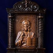 """Иконы ручной работы. Ярмарка Мастеров - ручная работа Икона """"Господь Вседержитель""""- резная деревянная икона. Handmade."""