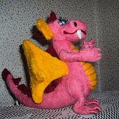 Куклы и игрушки ручной работы. Ярмарка Мастеров - ручная работа ДракоШа розовый. Handmade.