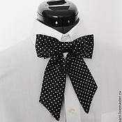 Аксессуары handmade. Livemaster - original item Tie Lady women`s polka dot. Handmade.