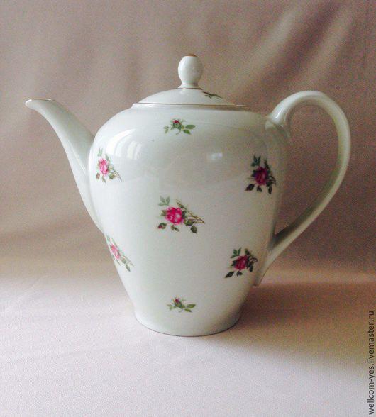 Винтажная посуда. Ярмарка Мастеров - ручная работа. Купить Чайник фарфоровый. Handmade. Комбинированный, фарфоровый чайник