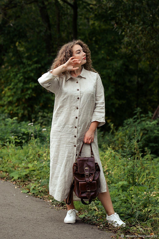 'Safari ' linen dress, Dresses, Moscow,  Фото №1