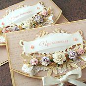 Приглашение на свадьбу своими руками винтаж