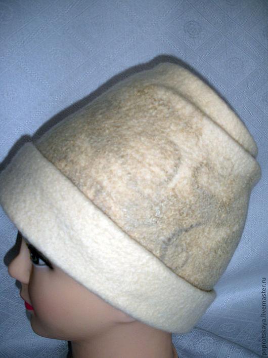 """Шапки ручной работы. Ярмарка Мастеров - ручная работа. Купить Шляпка """"Гармония"""". Handmade. Бежевый, для девушки"""