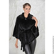 Одежда handmade. Livemaster - original item Knitted mink Cape
