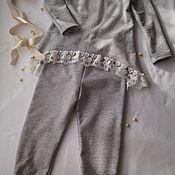 Комплекты одежды ручной работы. Ярмарка Мастеров - ручная работа Костюм для девочки: туника и штанишки. Handmade.