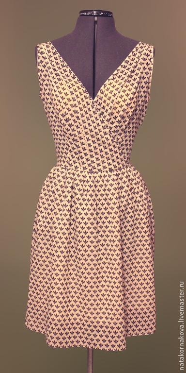 """Платья ручной работы. Ярмарка Мастеров - ручная работа. Купить ПЛАТЬЕ ЛЕТНЕЕ """"МУХА"""". Handmade. Бежевый, платье для девочки"""