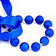 Бусы синие перламутровые на ленте шары колье выпускной торжество стиляги стиль 60 украшение выпускной свадьба синий крупные бусы любимой подарок дочери сестре подруге вечеринка рок-н-рол стиляги 50