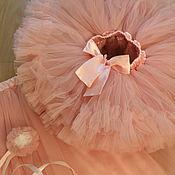 Работы для детей, ручной работы. Ярмарка Мастеров - ручная работа Пышная нежная юбочка американка цвета персик. Handmade.
