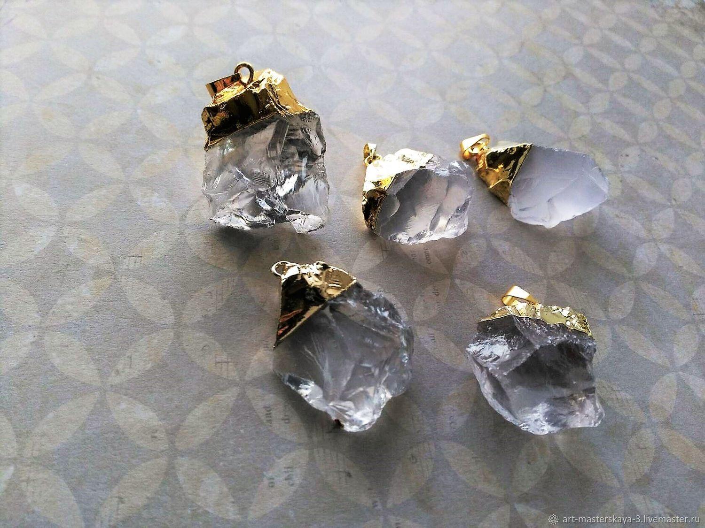 Подвески кристалла кварца, Минералы, Прокопьевск,  Фото №1