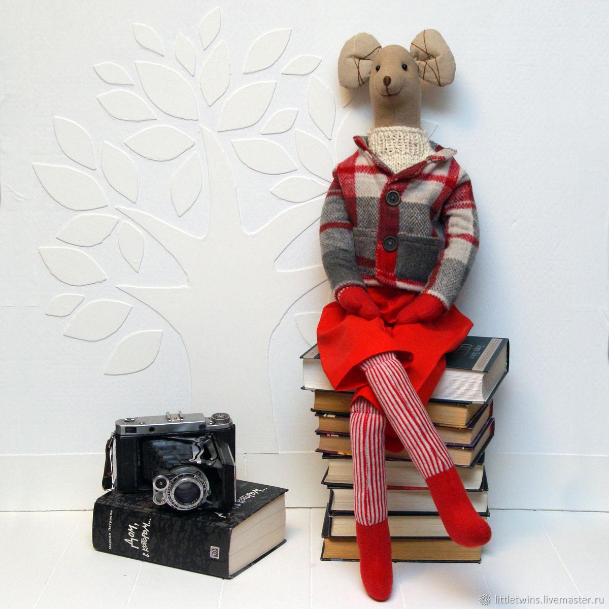 Big Mr. Mouse in Scandinavian style, Tilda Dolls, St. Petersburg,  Фото №1