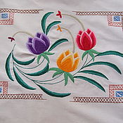 Винтаж handmade. Livemaster - original item Large pillow cover with embroidery, vintage. Handmade.